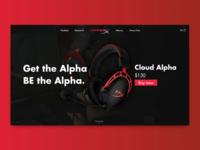 Hyperex Alpha Landig Page Concept