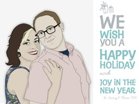 End of Year Greeting Postcard Illustration/Design