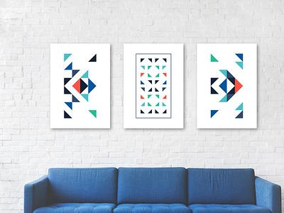 Poster set design geometric poster