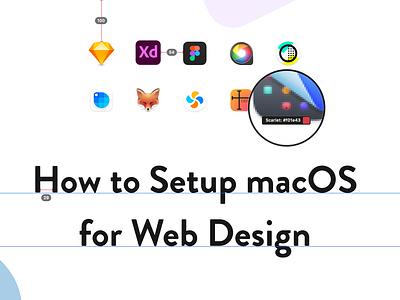 Cover image for my latest Skillshare class cover art skillshare webdesign macos