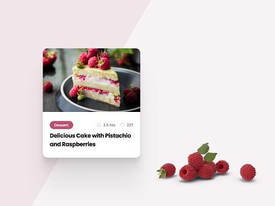 Simple recipe card design dessert design figma recipe card