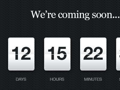 Countdown Timer countdown timer coming soon
