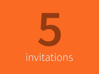 5 Invitations dribbble invitation