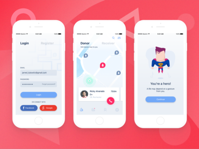Blood Donor App Concept