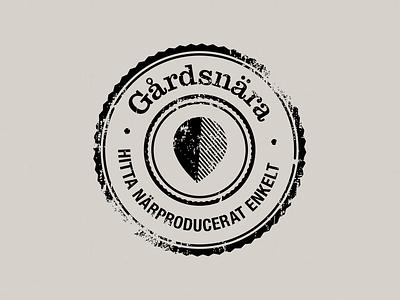 Gårdsnära vector logo branding identity