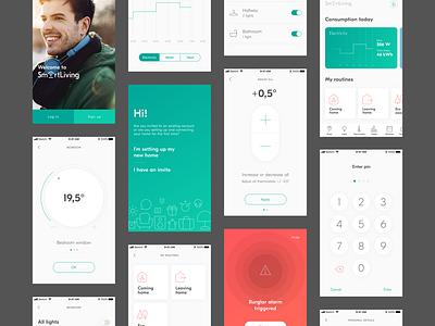 Smart Home app product design ui app