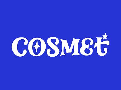 Cosmet Logotype design branding and identity hand lettered logo serifs lettering hand lettering branding product branding logo design logotype