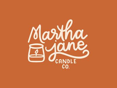 Martha Jane Hand Lettered Logo logotype logo monochromatic hand lettered branding design branding and identity branding illustration lettering hand lettering