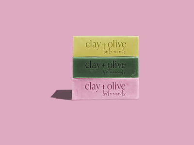 Logo for clay + olive product packaging brand identity logo design branding design branding and identity branding