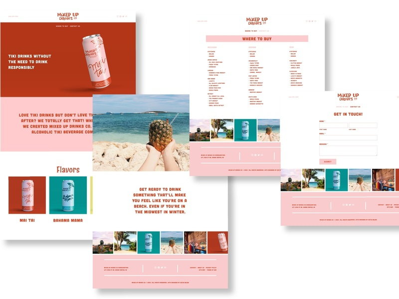 Website for Mixed Up Drinks Co. typography ux design ui squarespace commerce product page web design squarespace website