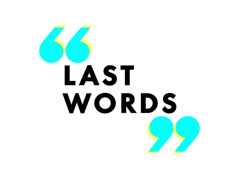 Last Words Logo branding design podcast art podcast logo branding and identity logo design logotype logo branding