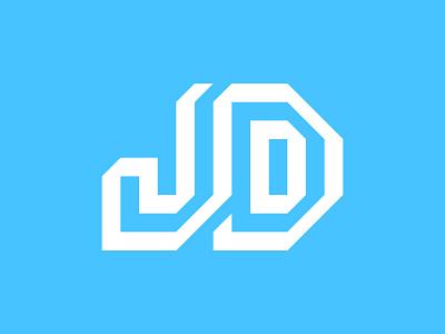 JD monogram type symbol negative space vectors custom logo vector customtype font typeface letters lettering minimal minimalist