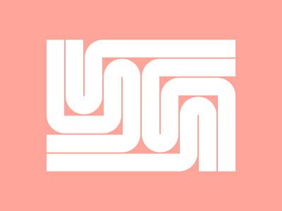 YG Monogram circles complex vector minimalist negativespace striped lines stripes symbol minimal