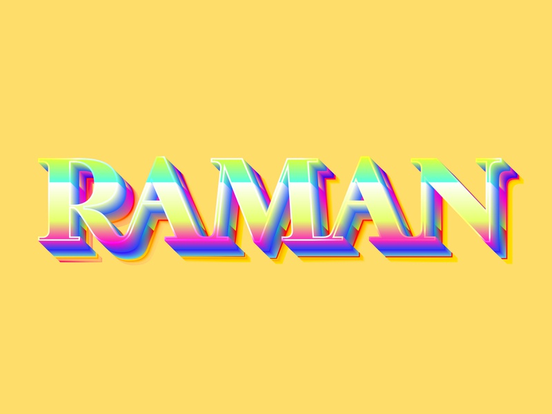 Raman Lettering #2 colorfull lettering art lettering fonts typeface typography type minimal colors gradients