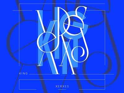 King Xerxes type logo typedesign typography art type art colorful lettering art symbol design lettering typeface serif font