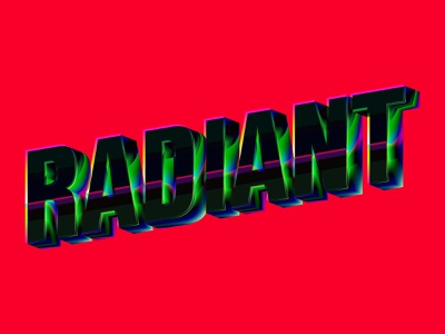 Radiant - Gemstone Effect shiny 3d lettering 3d art gradients typedesign typeposter typogaphy emerald ruby obsidian gemstone gem type vector lettering