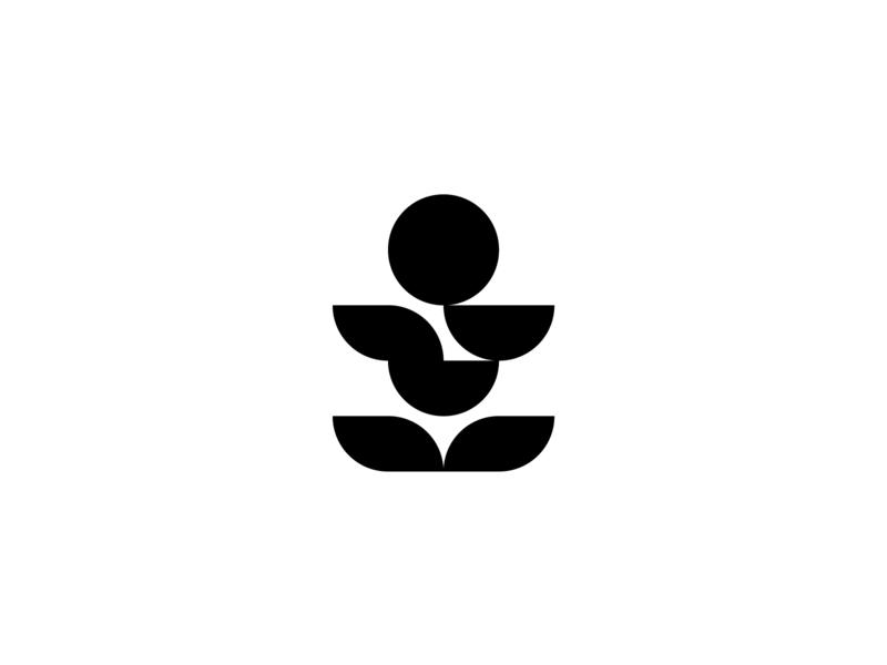 Eating Position minimalism flat mark symbol illustrator circle design whitespace negativespace minimalistic illustration curvy vector symmetric logo iconography icon geometry minimal circle black  white
