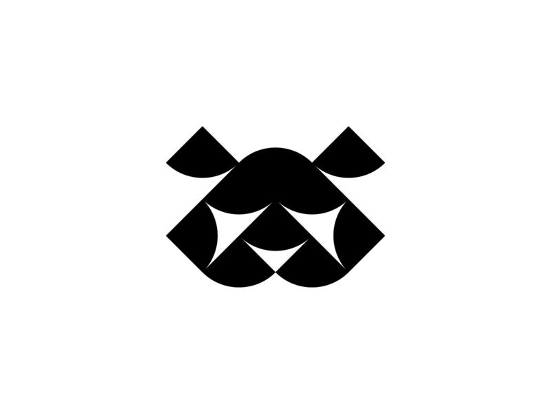Panda simple design design icon illustrator vector symbol circle design whitespace negativespace minimalistic illustration curvy symmetric minimal logo iconography geometry flat black  white circle