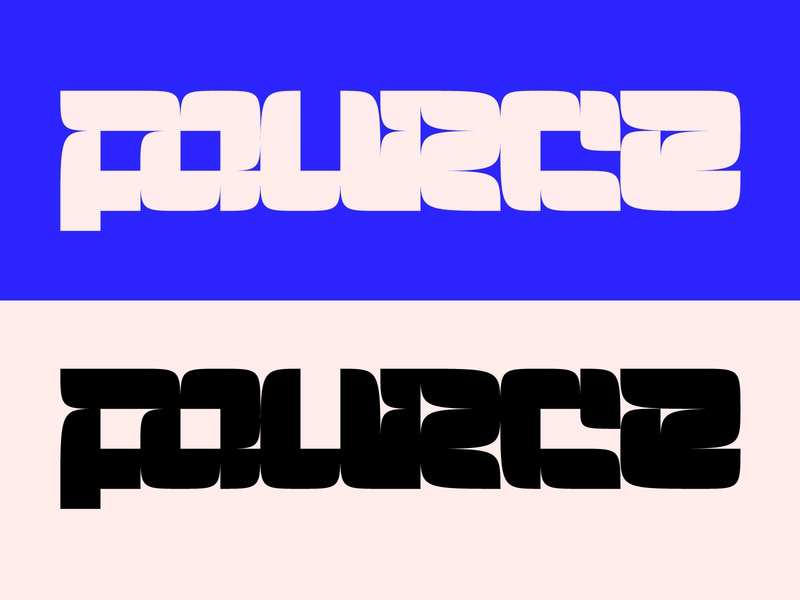 Fource blackandwhite cool colors cool stylish typography type lettering