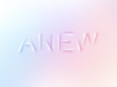 Anew: Logotype anew type design gradient logotype
