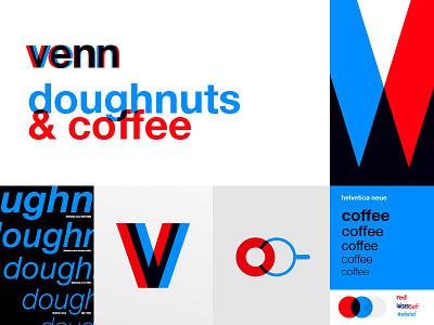 Café WIP system fh blue helvetica overlay red color logo mark lockup