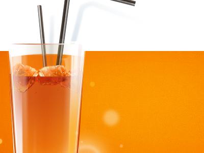 Coco water website teaser 2 orange ice glass