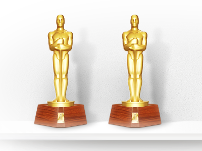 Prize teaser statuette gold reward oscar prize
