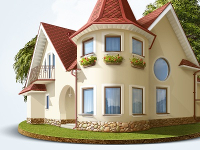 House house illustration digital art