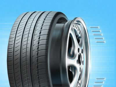 Tires&Wheels teaser illustration wheel