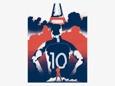 Mbappe - Go France worldcup18 futbol soccer france worldcup wacom design color photoshop 36days illustration