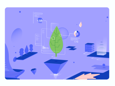 data analytics color leaf analytics data illustrator illustration