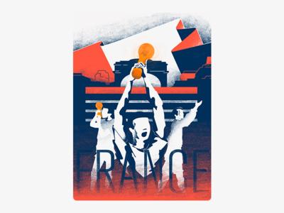 France! World Cup 2018 winner futbol soccer france wacom photosop adobe illustrator worldcup illustration