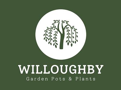 Willoughby Logo - Reverse Colour logo design gardener gardening branding logo