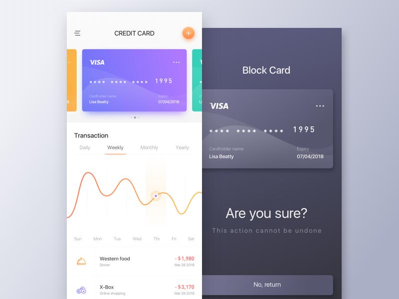 Financial   Bank Card  1 card;uiux financial;bank