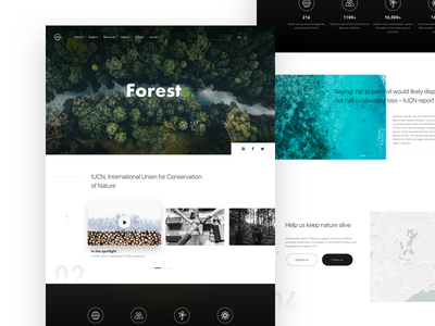 Protect our environment ui;web;iucn;mockup