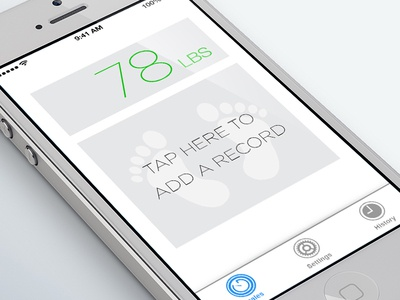 Weight Pro Shot ios7 clean white design iphone simple ice cold gre8ive jami labs