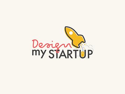 DesignMyStartup - II logo flat pointer cursor pen startup my design