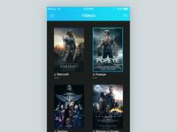 Videos/Movies listing