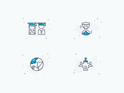 Icons distribution sharing global waiting period longer learning coaching
