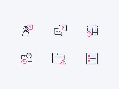 Icons icon listing glossary tracker folder error issue communication community training knowledge base support
