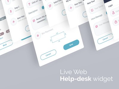 Web Help-Desk Widget ux chat live web app flow icons steps helpdesk widget web