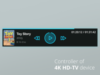 Video Player Controls for 4K HD-TV device