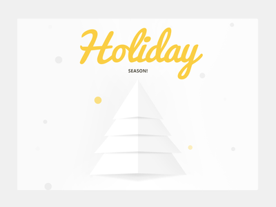 Holiday Email shot yellow minimalist clean email shot email design christmas holiday