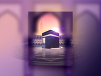 Kaaba Sharif Illustration - Poster Design