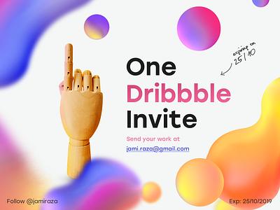 Dribbble invite one invite dribbble best shot dribbble invitation design dribbble invite giveaway dribbble invite