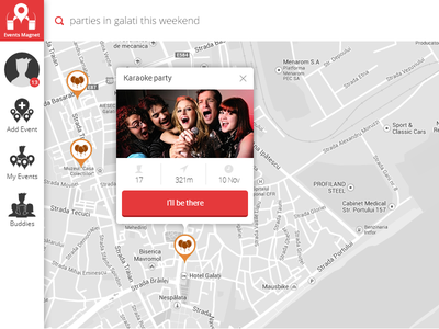 Events Magnet web interface