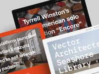 Blog editor explorations photos sans serif monospaced layout typography blog