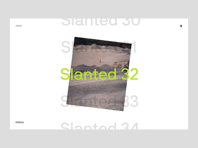 Slanted Magazine Interaction Prototype interactive figma app web interaction magazine prototype