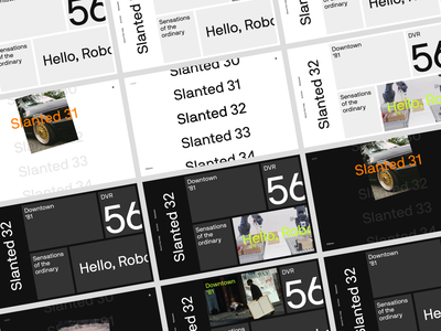 Slanted Magazine layouts unusual navigation neon layout prototype experiment web