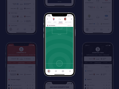 Sportening - Football lineup and stats sportening stats game milan goal football app soccer mobile mobile app lineup football match
